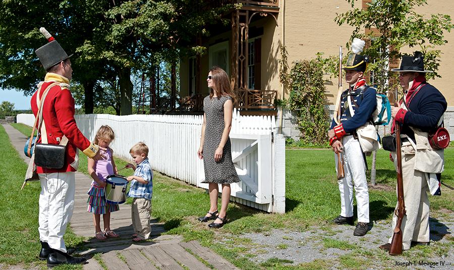 Sackets Harbor Battlefield re-enactors and guests