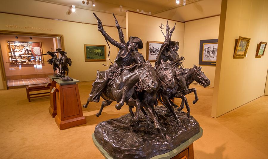 Sculptures inside Frederick Remington Art Museum